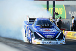 May 18, 2012; Topeka, KS, USA: NHRA funny car driver Robert Hight during qualifying for the Summer Nationals at Heartland Park Topeka. Mandatory Credit: Mark J. Rebilas-