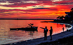 Personal Work<br /> <br /> Mullet fishermen wait for the evening run at Shell Point along the Forgotten Coast of Florida near Crawfordville.