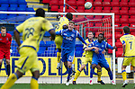 St Johnstone v Kilmarnock....02.04.11 .Mohamadou Sissoko gets above Jordan Robertson to clear the ball.Picture by Graeme Hart..Copyright Perthshire Picture Agency.Tel: 01738 623350  Mobile: 07990 594431
