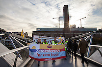 26.11.2013 - PCS Protest Against Zero Hours Contracts outside the Tate Modern