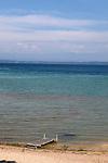 Empty beach on Lake Michigan on a beautiful summer day, Old Mission Peninsula, Lake Michigan, Traverse City area, Michigan, USA
