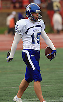 Universite de Montreal Carabins' Pierre-Paul Gelinas in CIS football action against the Rouge et Or at the universite Laval stadium in Quebec City, September 7, 2008. Laval won 17-6 before a crowd of 15,275.