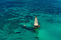 Aerial View, Alligator Light (lighthouse), Islamorada Key, Florida Keys, Florida USA