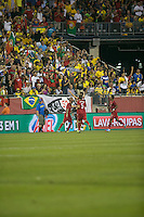 In an International friendly match Brazil defeated Portugal, 3-1, at Gillette Stadium on Sep 10, 2013.