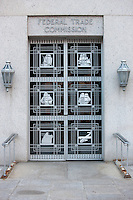 Art deco door to the Federal Trade Commission building, Washington, DC