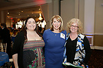Waterbury, CT- 21 March 2017-032117CM07-  SOCIAL MOMENTS---  From left,  Ally Marino of Middlebury Roseanne Greaney principal at Children's Community School, and Cathy Ciresi of Wolcott during The Children's Community School Board of Directors Annual Awards Dinner at La Bella Vista in Waterbury on Tuesday.   Christopher Massa Republican-American