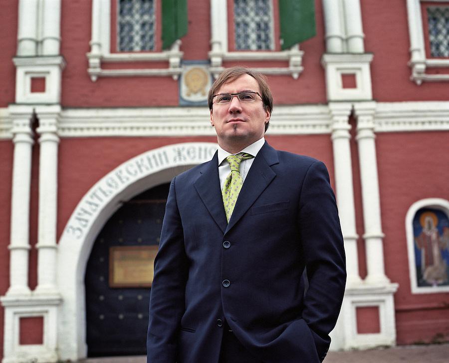 Moscow, Russia, 08/12/2006.&amp;#xA;Phillippe Bogdanov of luxury real estate firm Kirsanova Realty.<br />