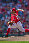6 September 2014: Washington Nationals starting pitcher Tanner Roark on the mound against the Philadelphia Phillies at Nationals Park in Washington, DC. The Nationals fell to the Phillies 3-1 in the second game of their 3-game series. Mandatory Credit: Ed Wolfstein Photo *** RAW (NEF) Image File Available ***
