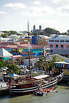 Americas, Caribbean, Antigua &amp; Barbuda. Cruise port at St. John's, Antigua.