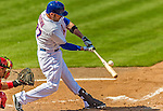 23 February 2013: New York Mets' outfielder Andrew Brown in action during a Spring Training Game against the Washington Nationals at Tradition Field in Port St. Lucie, Florida. The Mets defeated the Nationals 5-3 in their Grapefruit League Opening Day game. Mandatory Credit: Ed Wolfstein Photo *** RAW (NEF) Image File Available ***