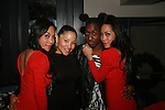 To-Tam Sachika, Guest, Barry  and  To-Nya Sachika  Attend JONES MAGAZINE PRESENTS SACHIKA TWINS BDAY BASH at SL, NY 12/12/11