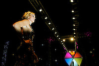 A model from the .Runway Show by The Shops at The Mix walks on the runway at Scottsdale Fashion Week on Saturday night.