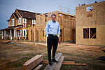 Kevin S. Carson,  president of The New Home Company poses for a portrait at the new housing development his company is building in Folsom, California, March 15, 2013.