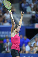 FLUSHING NY- AUGUST 31: Anastasija Sevastova Vs Garbine Muguruza on Arthur Ashe Stadium at the USTA Billie Jean King National Tennis Center on August 31, 2016 in Flushing Queens. Credit: mpi04/MediaPunch