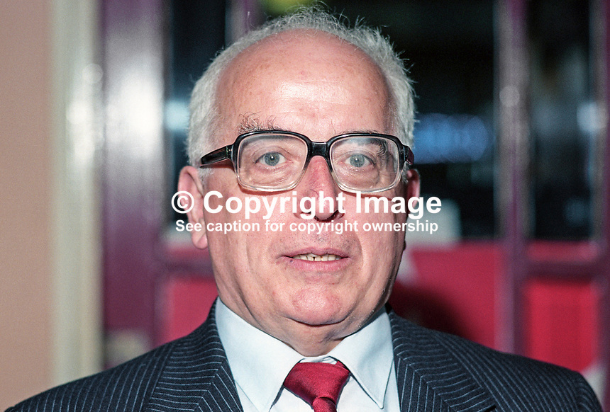Kevin McNamara, MP, Labour Party, UK, 19901001007..Copyright Image from Victor Patterson, 54 Dorchester Park, Belfast, United Kingdom, UK. Tel: +44 28 90661296. Email: victorpatterson@me.com; Back-up: victorpatterson@gmail.com..For my Terms and Conditions of Use go to www.victorpatterson.com and click on the appropriate tab.