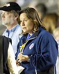 Carolina Courage Assistant General Manager Marcia McDermott at SAS Stadium in Cary, North Carolina on 3/22/03 before a game between the Carolina Courage and University of North Carolina Tarheels.