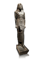 Ancient Ptolemaic Egyptian basalt statue of Ptolemy III, 220 BC . Neues Museum Berlin. Cat No: 14764