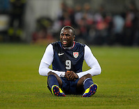 Jozy Altidore (USA) injured, during the friendly match Italy against USA at the Stadium Luigi Ferraris at Genoa Italy on february the 29th, 2012.