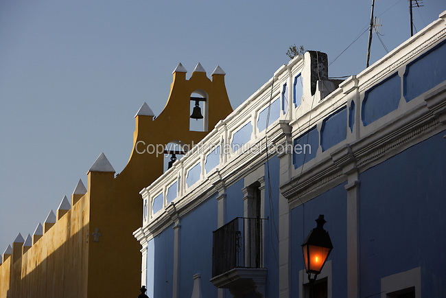 Founded in 1540, Campeche City was the first Spanish settlement of the Yucatan Peninsula and served as one of the most important ports in America, exporting forest products. Actually tourists attraction for the upper-class Spanish mansions, churches and other colonial buildings still standing, Mexico Picture by Manuel Cohen