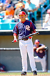 15 March 2006: Jose Vidro, second baseman for the Washington Nationals, at bat during a Spring Training game against the New York Mets. The Mets defeated the Nationals 8-5 at Space Coast Stadium, in Viera, Florida...Mandatory Photo Credit: Ed Wolfstein..