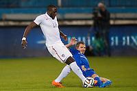 Larnaca, Cyprus - Wednesday, March 5 2014:  USMNT competes against Ukraine National Team at Antonis Papadopoulous Stadium.