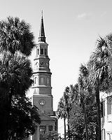 Established in 1681, St. Phillip's is the oldest religious congregation in South Carolina. The first St. Phillip's Church, a wooden building, was built between 1680 and 1681 at the corner of Broad and Meeting streets on the present day site of St. Michael's Episcopal Church. It was damaged in a hurricane in 1710 and a new St. Phillip's Church was begun a few blocks away on Church Street. After being delayed it was finished in 1723 but burned to the ground in 1835. Work on the present church was begun that same year and completed the next. The steeple was added between 1848 and 1850. A prominent early rector of St. Phillip's was Rev. Thomas Frost, a fellow of Caius College, Cambridge, who became rector of St. Phillip's in 1785. Rev. Frost died in 1804 at 46 years of age. Rev. Thomas Downes Frost, son of the first rector Frost, was elected assistant minister of St. Phillip's on March 12, 1815. The second Rev. Frost died an early death at age 26 in 1819.<br />