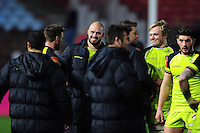 Lachlan McCaffrey of Leicester Tigers is all smiles after the match. Aviva Premiership match, between Harlequins and Leicester Tigers on February 24, 2017 at the Twickenham Stoop in London, England. Photo by: Patrick Khachfe / JMP