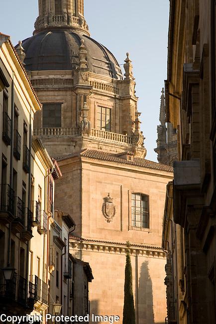 Calle de los Libreros Street with Real Clerica de San Marcos, Univeristy of Salamanca, Castile and Leon, Spain