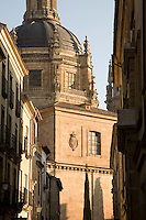 Calle de los Libreros Street with Real Clerica de San Marcos, Univeristy of Salamanca, Castile and Leon, Spain