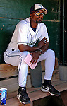 12 July 2007: Vermont Lake Monsters Manager Darnell Coles awaits the start of play prior to a game against the Mahoning Valley Scrappers at Historic Centennial Field in Burlington, Vermont. The Scrappers defeated the Lake Monsters 11-2 in the first game of their NY Penn-League double-header...Mandatory Photo Credit: Ed Wolfstein Photo