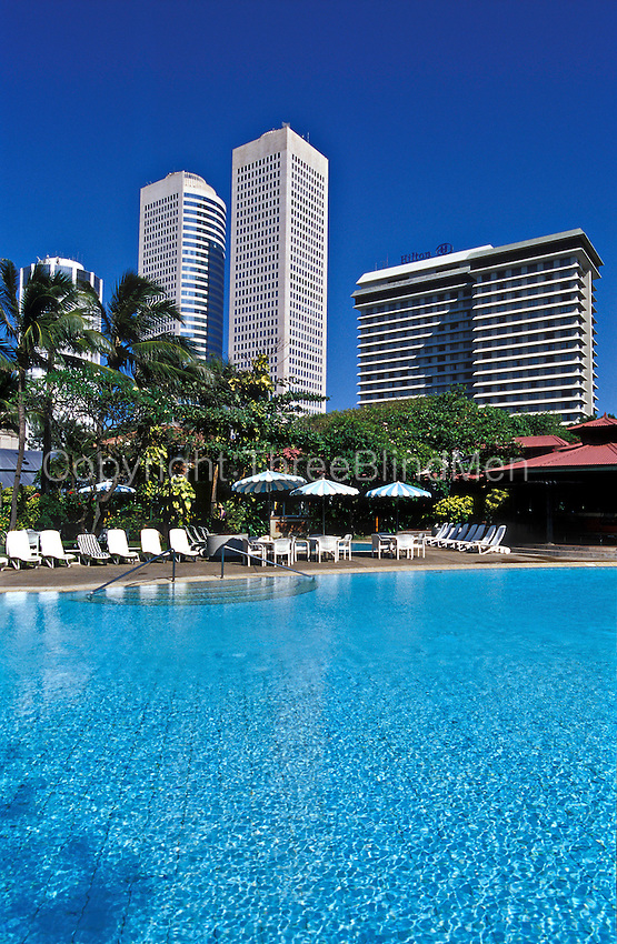 011 sri lanka colombo skyline from hilton swimming pool - Hilton swimming pool ...
