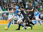 St Johnstone v Celtic&hellip;20.08.16..  McDiarmid Park  SPFL<br />Murray Davidson and Blair Alston battle with Nir Bitton and Kieran Tierney<br />Picture by Graeme Hart.<br />Copyright Perthshire Picture Agency<br />Tel: 01738 623350  Mobile: 07990 594431