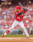 22 August 2015: Washington Nationals outfielder Bryce Harper at bat against the Milwaukee Brewers at Nationals Park in Washington, DC. The Nationals defeated the Brewers 6-1 in the second game of their 3-game weekend series. Mandatory Credit: Ed Wolfstein Photo *** RAW (NEF) Image File Available ***