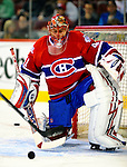 24 November 2008:  Montreal Canadiens' goaltender Jaroslav Halak warms up prior to a game against the New York Islanders at the Bell Centre in Montreal, Quebec, Canada. The Canadiens are celebrating their 100th season. ****Editorial Use Only****..Mandatory Photo Credit: Ed Wolfstein Photo *** Editorial Sales through Icon Sports Media *** www.iconsportsmedia.com