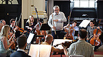 Sir James Galway rehearses with the Brandenburg Sinfonia at St Martins in the Fields, London - Brandenburg Sinfonia