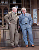 Hobson's Choice <br /> by Harold Brighouse<br /> at Vaudeville Theatre, London, Great Britain <br /> press photocall<br /> 13th June 2016 <br /> <br /> Christopher Timothy as Jim Heeler <br /> Martin Shaw as Horatio Hobson <br /> <br /> <br /> Photograph by Elliott Franks <br /> Image licensed to Elliott Franks Photography Services