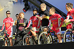 Cofidis team at sign on before the 101st edition of the Tour of Flanders 2017 running 261km from Antwerp to Oudenaarde, Flanders, Belgium. 26th March 2017.<br /> Picture: Eoin Clarke | Cyclefile<br /> <br /> <br /> All photos usage must carry mandatory copyright credit (&copy; Cyclefile | Eoin Clarke)