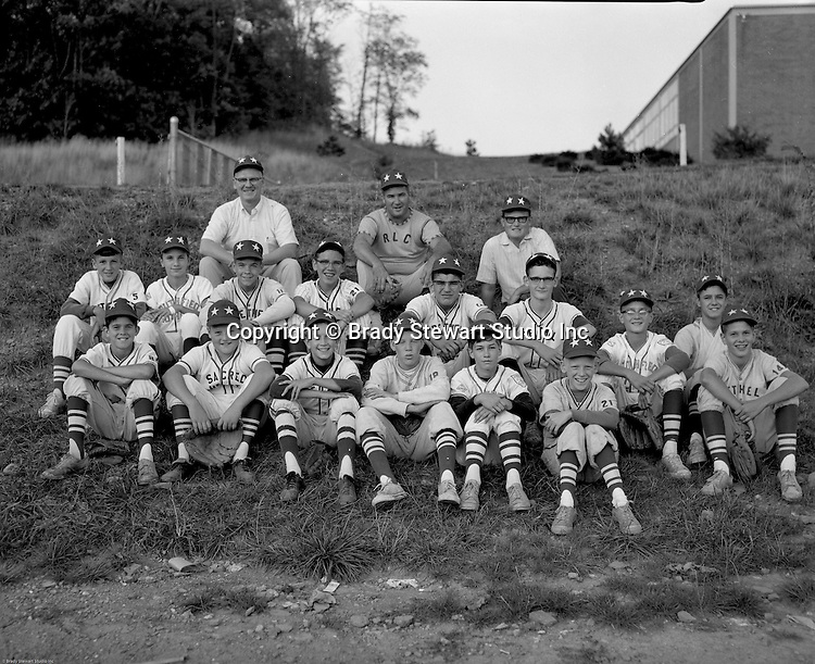 Bethel Park PA: Team photo of the Bethel Park Pony League All-Stars - 1967.  Names I can remember;   Bruce Evanovich, Chuck Singer, Coach Welch, Jim Dingeldine, Joe Fredley, Scott Streiner, Bobby McCarthy, Skip Uhl