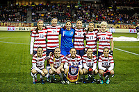 The starting 11 vs Ireland. USWNT won 5-0 in a friendly against Ireland at JELD-WEN Field in Portland, Oregon on November 28, 2012.