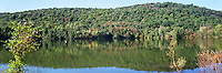 RAMAPO MOUNTAINS<br /> Ramapo Reservation - Scarlett Oak Pond<br /> A forested range of the Appalachian mountains in northeastern NJ and southeastern NY.  Elevations range from 900  to 1,200 ft (270-370 m).  These photos are from Mahawah, NJ (panoramic)