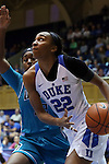 31 December 2015: Duke's Oderah Chidom. The Duke University Blue Devils hosted the University of North Carolina Wilmington Seahawks at Cameron Indoor Stadium in Durham, North Carolina in a 2015-16 NCAA Division I Women's Basketball game. Duke won the game 78-56.