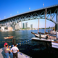 Vancouver, BC, British Columbia, Canada - Granville Street Bridge crossing False Creek at Granville Island