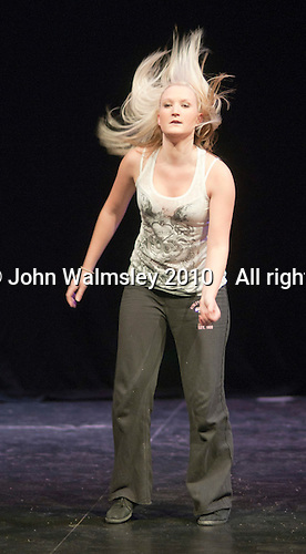 "Dancer, Kerry Peart, rehearsing.  Special Olympics Surrey put on a show,   ""Beyond the Stars"", at the Rose Theatre, Kingston upon Thames to raise money for the  SOGB team.  The Special Olympics are for athletes with learning disabilities."