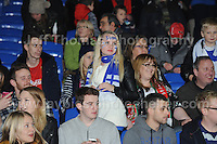 Both sets of supporters enjoy the atmosphere during the Wales v Finland Vauxhall International friendly football match at the Cardiff City stadium, Cardiff, Wales. Photographer - Jeff Thomas Photography. Mob 07837 386244. All use of pictures are chargeable.