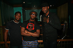 Drummer Sam Onwudo, Singer Bez and Bass Player Dan Oyewole at SOL VILLAGE Hosted by: Eric Roberson music by The Collective featuring Josh X, Lalana, BEZ and Anthony Hall at S.O.B.s 5/16/12