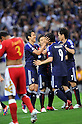Japan team group (JPN),.JUNE 3, 2012 - Football / Soccer :.Shinji Okazaki of Japan celebrates with his teammates Makoto Hasebe, Yuto Nagatomo and Yasuhito Endo after scoring their third goal during the 2014 FIFA World Cup Asian Qualifiers Final round Group B match between Japan 3-0 Oman at Saitama Stadium 2002 in Saitama, Japan.  (Photo by Takahisa Hirano/AFLO)