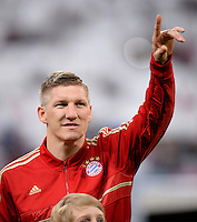 FUSSBALL  CHAMPIONS LEAGUE  HALBFINALE  HINSPIEL  2012/2013      FC Bayern Muenchen - FC Barcelona      23.04.2013 Bastian Schweinsteiger (FC Bayern Muenchen)