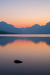 Sunrise over Lake McDonald in Glacier National Park