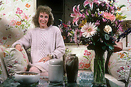 "Januray, 1985, New York, NY. Helen Gurley, editor-in-chief of US Cosmopolitan magazine, 1965-1987, in her office. Author of best-selling book Sex and the Single Girl, 1962, advocated for women's sexual freedom and proclaimed ""women can have it all: love, sex and money."""