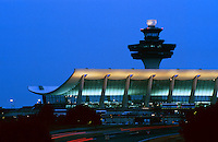 Dusk view of Dulles Airport in Northern Virginia
